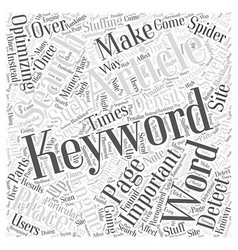 The Importance of Keywords Word Cloud Concept vector