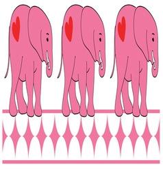 Triplet Elephants vector