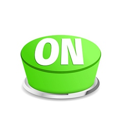 Turn on button sign template green vector image