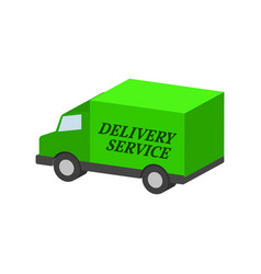 Van commercial vehicle delivery service symbol vector