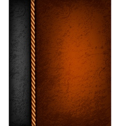 Vintage background with brown and black leather vector