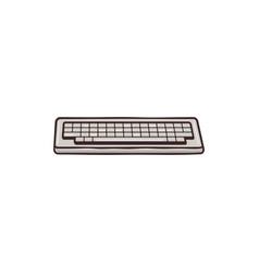 vintage drawn keyboard concept mixed flat vector image