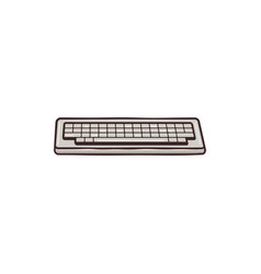 Vintage hadn drawn keyboard concept mixed flat vector