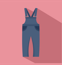 work trousers icon flat style vector image