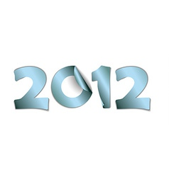 2012 made from blue stickers vector image vector image