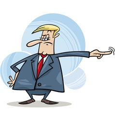 angry boss firing somebody vector image vector image