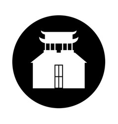 asian building castle icon vector image