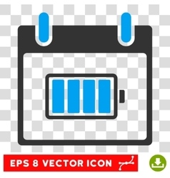 Battery Calendar Day Eps Icon vector image vector image