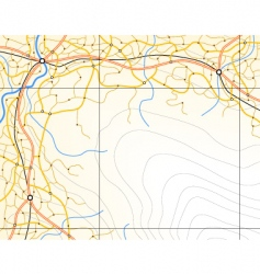 generic map vector image vector image