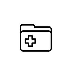line folder icon on white background vector image