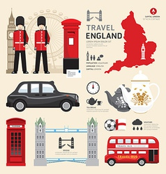 London united kingdom flat icons design travel vector