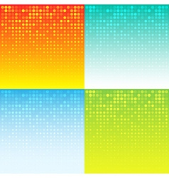 Set of Colorful Abstract Halftone Background vector image vector image