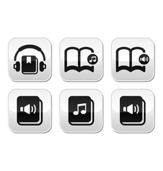 Audiobook buttons set vector image vector image