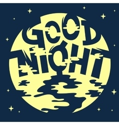 Good Night Artistic Cool Comic Lettering Cartoon vector image vector image