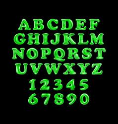 green alphabet foil party celebration balloons vector image
