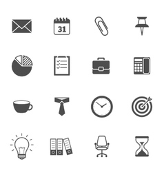 Office Icons Gray vector image vector image