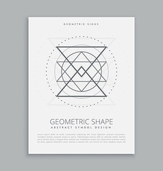 sacred geometric sign vector image vector image