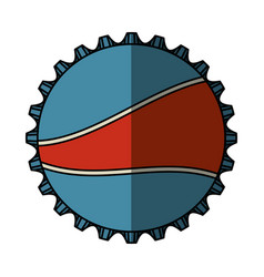 Soda metal cap isolated icon vector