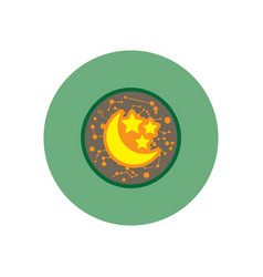 stylish icon in color circle moon and stars vector image
