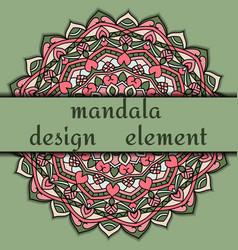 unusual design element beautiful floral mandala vector image vector image