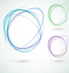 Abstract circle design swoosh line elements vector