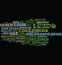 Autoresponder leads create a customer base vector