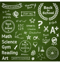 Back to school elements vector image