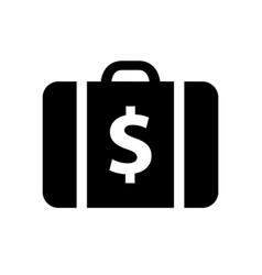 Black shopping icon vector