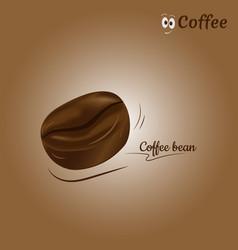 coffee bean icon design vector image vector image