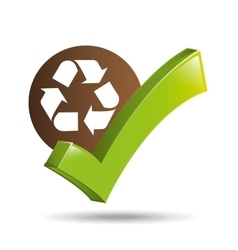 concept ecological icon recycle vector image