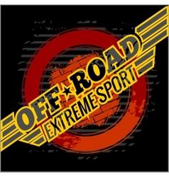 emblem - off-road cars vector image vector image