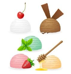 ice cream balls 02 vector image vector image
