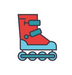 roller skates flat line concept vector image vector image