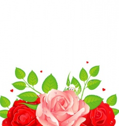 roses card vector image vector image