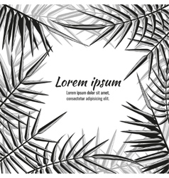 Abstract exotic background with tropical vector image vector image