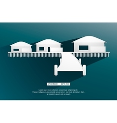 background sign bungalow flat design vector image vector image