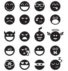 black smiles vector image vector image