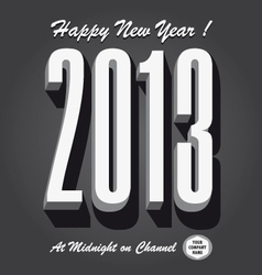 Happy new year 2013 retro vector image
