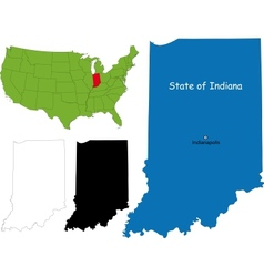 Indiana map vector image