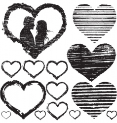 stamp of love vector image vector image