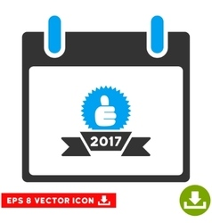 2017 Award Ribbon Calendar Day Eps Icon vector image