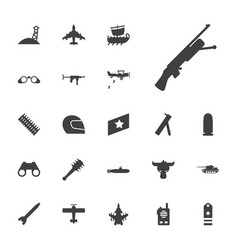 22 military icons vector