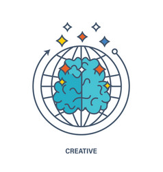 About creative thinking creation an innovation vector