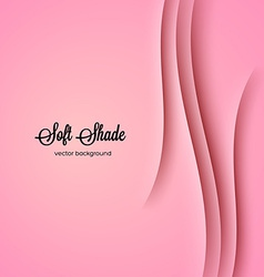 Abstract background with pink shadow ornament vector image