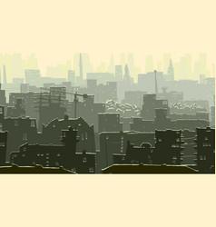 Abstract cartoon of big snowy city vector