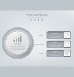 Abstract element for businessstrategy in vector