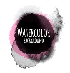 Abstract watercolor black color background vector
