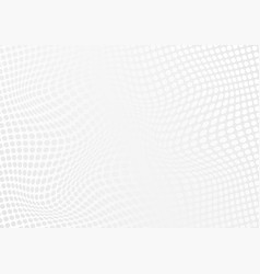 abstract white halftone waves overlap background vector image