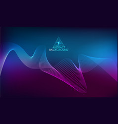 Amplitude abstract background with a colored waves vector
