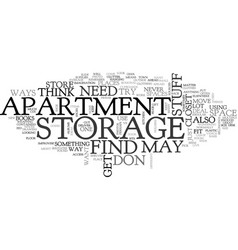 apartment search text word cloud concept vector image